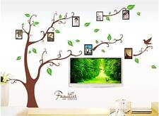 New Brown Tree Wall Decal Sticker Family Quote Photo Frame Home Decor Large