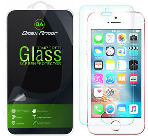 2X Dmax Armor for iPhone SE 1st Gen/ 5S / 5C / 5 Tempered Glass Screen Protector