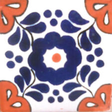 #C109) Mexican Tile sample Ceramic Handmade 4x4 inch, GET MANY AS YOU NEED !!