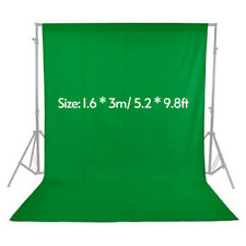1.6*3m Studio Photography Backdrop Background Screen Surface Cloth Green F1H8