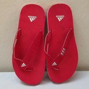 ADIDAS Sandals Slippers Slides Flip-Flops Red Men's Size 6 Women's Size 7