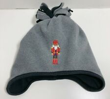 Janie and Jack Fleece Nutcracker Hat Gray Black Soldier Holiday Traditions 2T-3