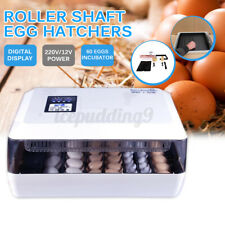 60 Egg Incubator Automatic Digital LED Turning Chicken Duck Dual Power Supply