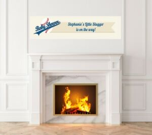 Little Slugger Baseball -Baby Shower Printed Banner -Indoor Outdoor Banner