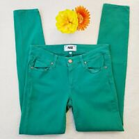 Womens Paige  Verdugo Ultra Skinny Jeans  Mint Green  Size 27 Mid Rise