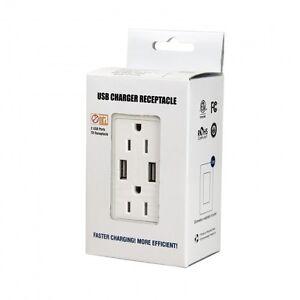 ENERLITES High Speed USB Charger 15A Tamper Resistant Outlet (5 Pack)