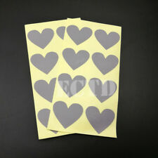 "150pcs Scratch Off Stickers 30x35mm Heart Shape Silver Color 1.18"" X 1.37"""