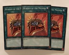 Yu-Gi-Oh! YS17-EN029 - Burden of the Mighty Playset (x3) - 1st edition - Common