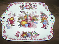 "Vintage Mason's Ironstone Fruit Basket Design in Red Square Plate11"""