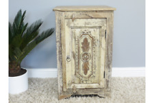 Reclaimed rustic style wood bedside side table unit storage cabinet Vintage