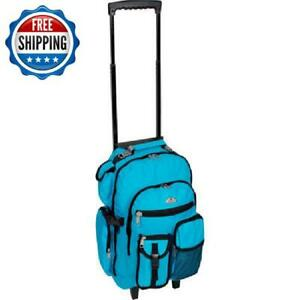 Compact Backpack Luggage Suitcase Travel Lightweight Rolling Carry-On Wheeled