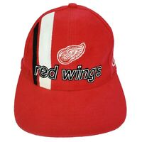 Detroit Red Wings Hockey Hat Vintage 90's Logo Athletic Strapback NHL Red OSFA