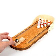 Mini-Desktop-Pin-Ball-Desk Game Bowling-Family Game-Wooden-Bowling-Alley-Ten