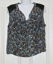 Womens size 18 scoop neck print top made by SUZANNE GRAE