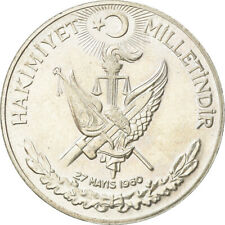 [#881166] Coin, Turkey, 10 Lira, 1960, AU(55-58), Silver, KM:894