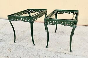 "Matching Pr of Brown Jordan ""Elegance"" Pattern neoclassical style Drinks tables"