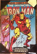 Marvel Comics Iron Man 126 Cover Plaque Hand Signed Romita Jr Layton Michelinie