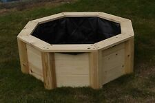 Instant Pond Kit / Planter/ Water Feature Wooden Octagonal