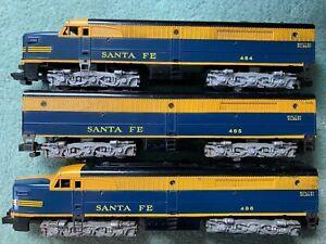 American Flyer #484/485/486 Santa Fe ABA Diesel engines 1957 single rivet steps