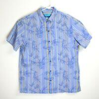 XLarge (XL) Tori Richard Hawaiian Short Sleeve Shirt Mens Blue Button Up
