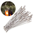 10/20/50PCS EDC Wire Rope Key Ring Stainless Steel Wire Key Chain Pendant Loop