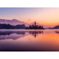 Lake Bled Island Slovenia Canvas Wall Art Print