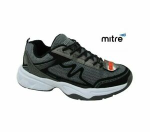 MENS MITRE EXTRA WIDE FITTING MEMORY FOAM LACE UP SPORTS WALKING TRAINERS SHOES