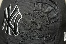Embroidered New York Yankees New Era Fitted 7 1/8 100% Wool Baseball Cap Hat EUC