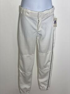 Russell Athletics Boys Baseball Pants White NWT Sz Medium