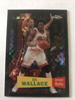 Ben Wallace 2007-08 Topps Chrome Xfractor Black 1957 Retro Variation #'ed 48/50