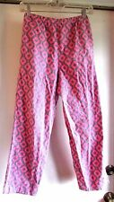 PJ Bottoms Warm Winter Pajama Pants Flannel Pink Grey Stretch Waist Small Girls