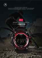 Montre Connectée Noir/rouge Smartwatch Bracelet étanche Bluetooth Android Apple