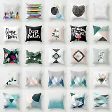 Geometry Theme Cotton Canvas Cushion Cover Home Decor Throw Pillow Case_Lounge!