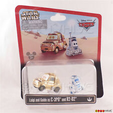 Disney Pixar Cars Luigi & Guido as C-3PO AND R2-D2 Star Wars Weekends 2013 worn
