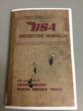 BSA Victor 441  Instruction Book ,  Enduro & Trials 1966   45 pages