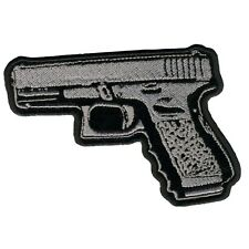 Pistol Gun Jacket Vest MC Outlaw 4 inch Biker Patch