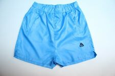 Turquoise Blue Wet look Shiny Nylon Soccer Shorts JTS Sexy Adult L (Large)