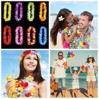 Hawaiian Flower Leis Garland Necklace Fancy Dress Party Hawaii Beach Decor 10pcs