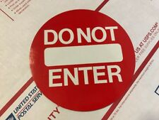 In & Do Not Enter Glass Door Decals / Stickers / Labels Entry Safety