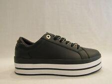 TOMMY HILFIGER FWOFW05216 CRAC PRINT FLATFORM C. sneakers donna in pelle nera