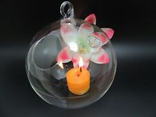1Pc Clear Ball Glass Hanging Candle Holder Wedding 11.5cm dia