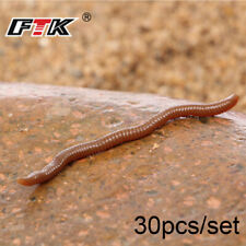 30pcs/lot 7.5cm Soft Lure Silicone Earthworms Red Worms Fishing Lures Bloodworm~