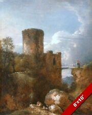 CONWY CONWAY CASTLE WALES PAINTING BRITISH WELSH HISTORY ART REAL CANVAS PRINT