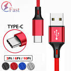 USB Type C Fast Charging Cable For Samsung Galaxy S8 S9 S10 Plus S20 S21 Note 20