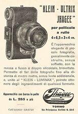 W9952 Klein-Ultrix JHAGEE per pellicole a rullo - Pubblicità del 1931 - Old ad