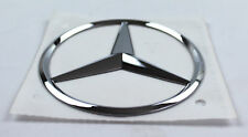 Mercedes-Benz Stars Emblem Sticker Self Adhesive Chrome Logo Adhesive 3 11/32In