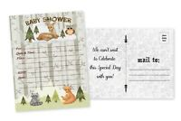 Woodland Baby Shower Invitations Boy Invites Woodland Owl Forest Deer Fox 20