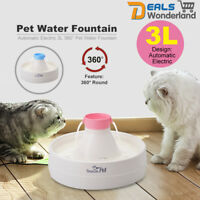 Automatic Electric 3L 360° Pet Water Fountain Dog Cat Waterfall Drinking  /Filte