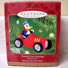2001 Hallmark Disney Donald Goes Motoring Ornament, Die-Cast Metal Car