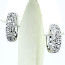 .72 Carat Diamond Huggies Earring 14k White Gold